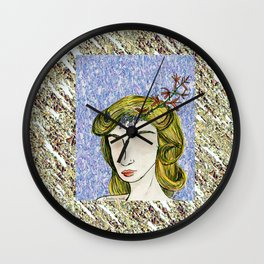 Distinction in Solitude Wall Clock