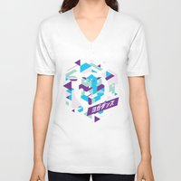rave V-neck T-shirts featuring Space Rave by Affinity Brand