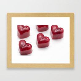 Marmalade Heart Framed Art Print