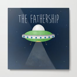 The Fathership Metal Print