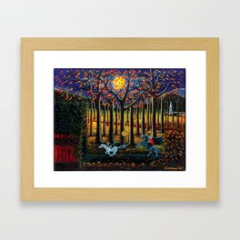 Halloween art The Headless Horseman of Hudson Valley Framed Art Print