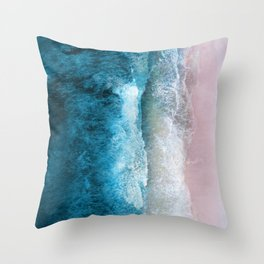 Blue Sea III Throw Pillow