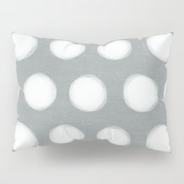 painted polka dots - gray  Pillow Sham