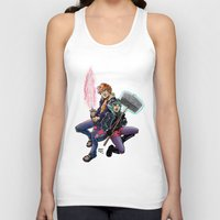 scott pilgrim Tank Tops featuring Scott & Ramona by MarioRojas