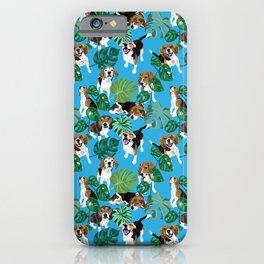 beagle tropical iPhone Case