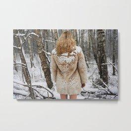 Winter Wait Metal Print