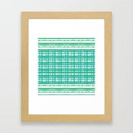 Line Plaid Framed Art Print
