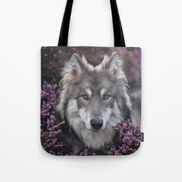 Flower Woof Tote Bag