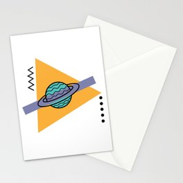 planet of the shapes Stationery Cards