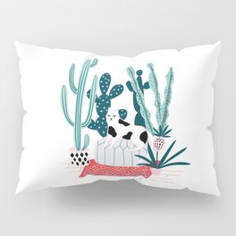 Cat and cacti Pillow Sham