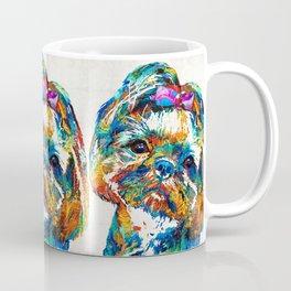 Colorful Shih Tzu Dog Art By Sharon Cummings Coffee Mug