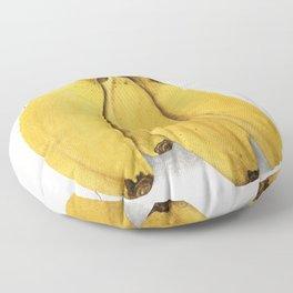 Bananas (Musa) (1904) by Ellen Isham Schutt Floor Pillow