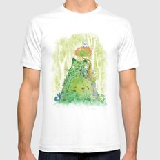 The Friendly Spirit SMALL Mens Fitted Tee White
