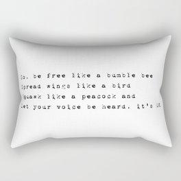 Let your voice be heard - Lyrics Collection Rectangular Pillow