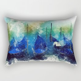 Venice Gondola painting Rectangular Pillow
