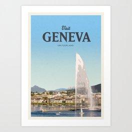 Visit Geneva Art Print