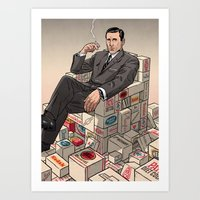 mad men Art Prints featuring Mad Men by David M. Buisán