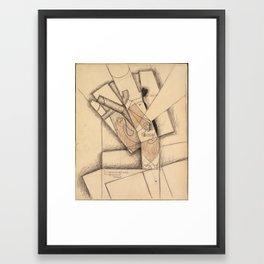 Juan Gris (1887–1927), The Smoker Framed Art Print