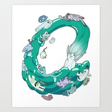 Splash! Art Print