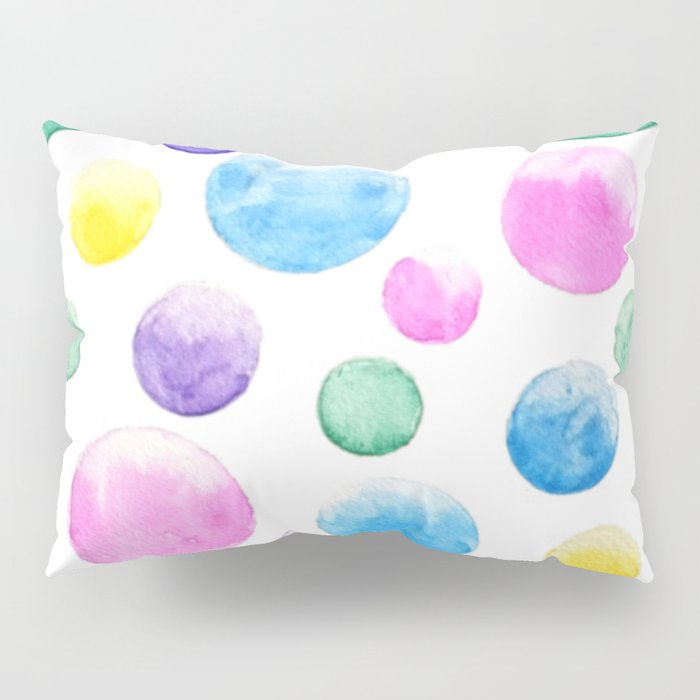 cheerful colorful bubbles Pillow Sham
