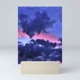 Clouds - Twilight Summer #1 #sunset #decor #art #society6 Mini Art Print