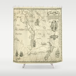 Old Maps Shower Curtain