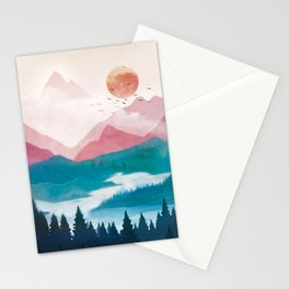 Wilderness Becomes Alive at Night II Stationery Cards