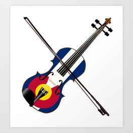 Colorado Fiddle Art Print