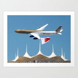 Gulf Air A340-2 Art Print