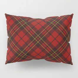 Adorable Red Christmas tartan Pillow Sham