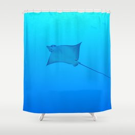 Smiling Eagle Ray Shower Curtain