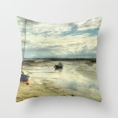 Three Little Boats Throw Pillow