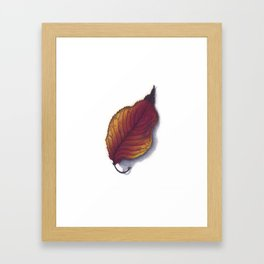 Cherry Leaf Watercolor Framed Art Print