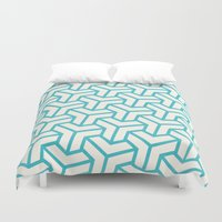 diamond Duvet Covers featuring Diamond by Marta Li