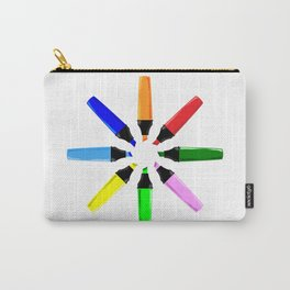 Circle of Highlighter Pens Carry-All Pouch