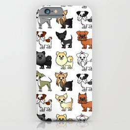 Cute Toy Dog Breed Pattern iPhone Case