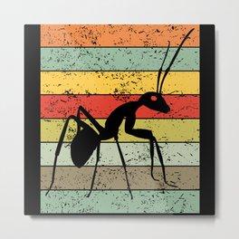 Ant Ants Keeping Ant Farm Retro Vintage Gift Metal Print
