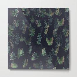 green garden at nigth mirror!!! Metal Print