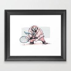 Tennis Badger Framed Art Print