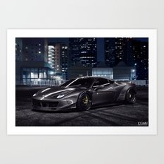 Liberty Walk Ferrari 458 Art Print