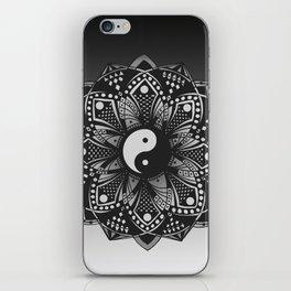 Yin and Yang Mandala (Black & White) iPhone Skin