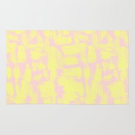 pink yellow Rug
