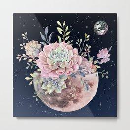 succulent night light Metal Print