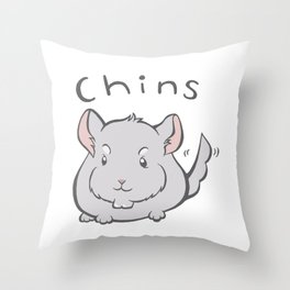 Chins Throw Pillow