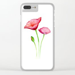 Poppy Clear iPhone Case