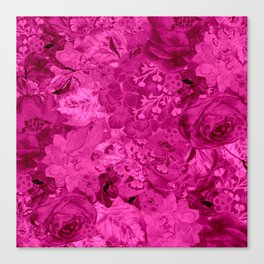 satiny fuchsia bouquet Canvas Print