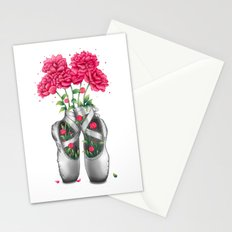 Pointe with pink peonies Stationery Cards