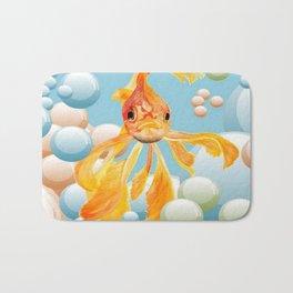 Vermillion Goldfish Blowing Bubbles Bath Mat