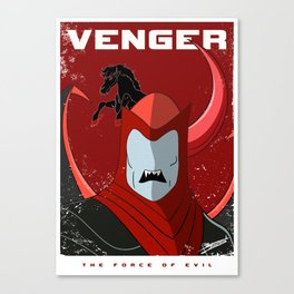 Venger, The Force of Evil Canvas Print
