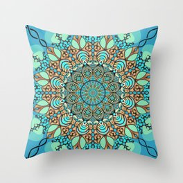 Zentangle Mandala 180218 - Bohemian Mandala Throw Pillow
